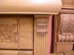 Legno scolpito scultura in legno ornamenti per mobili scolpiti in legno capitello per - Fregi per mobili ...